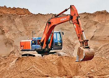 Добыча глины в карьере